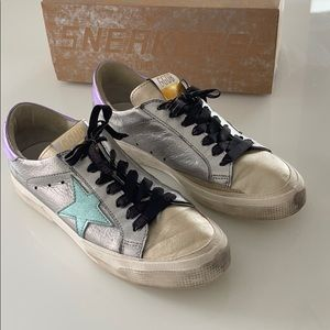 "Golden Goose ""May"" Multi Metallic leather sneakers"